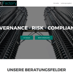 Screenshot unserer neuen Website