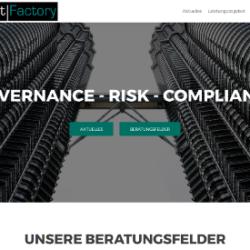 Screenshot unserer neuen Website